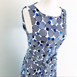 Anne Klein printed fit & flare dress size 10 NEW